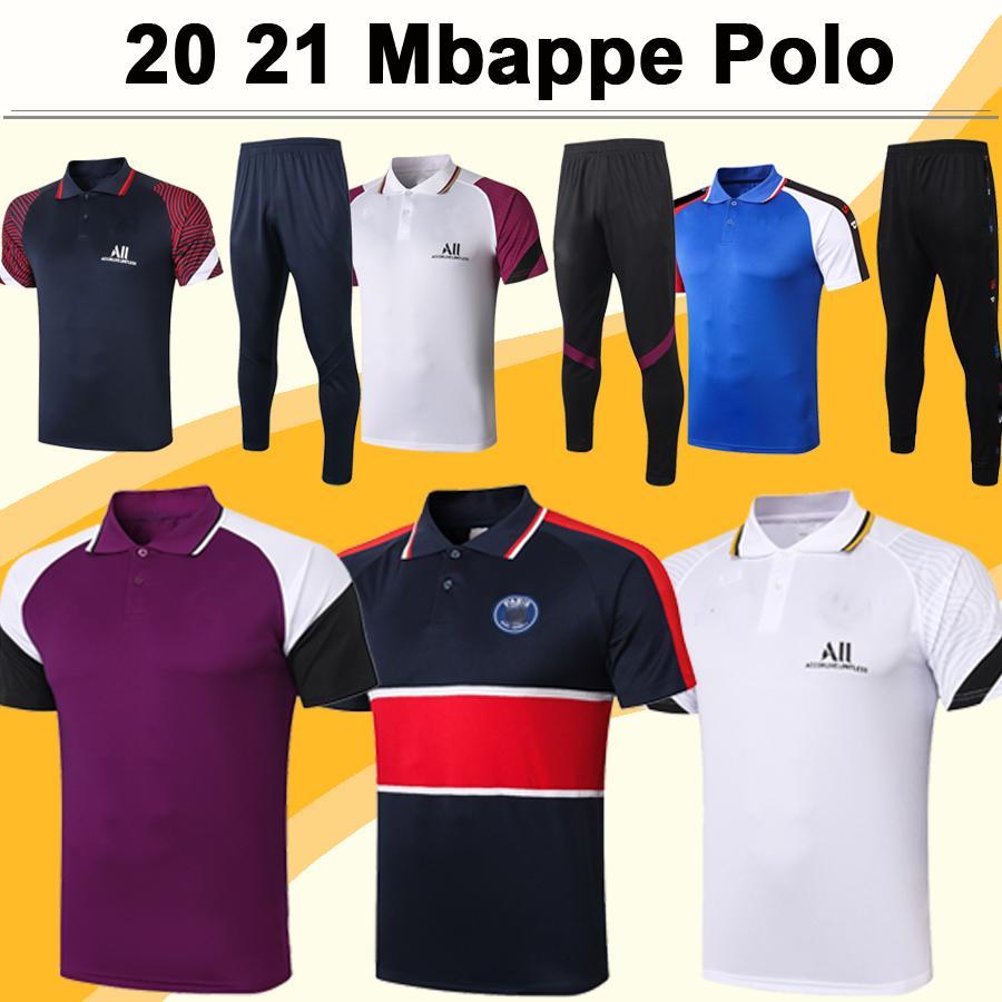 20 21 Mbappe ICARDI Polo Chemises de football Kit Nouveau Di Maria Draxler Rouge Violet Blanc Blanc Blanc Jerseys Kimpembe Verratti Pants Top