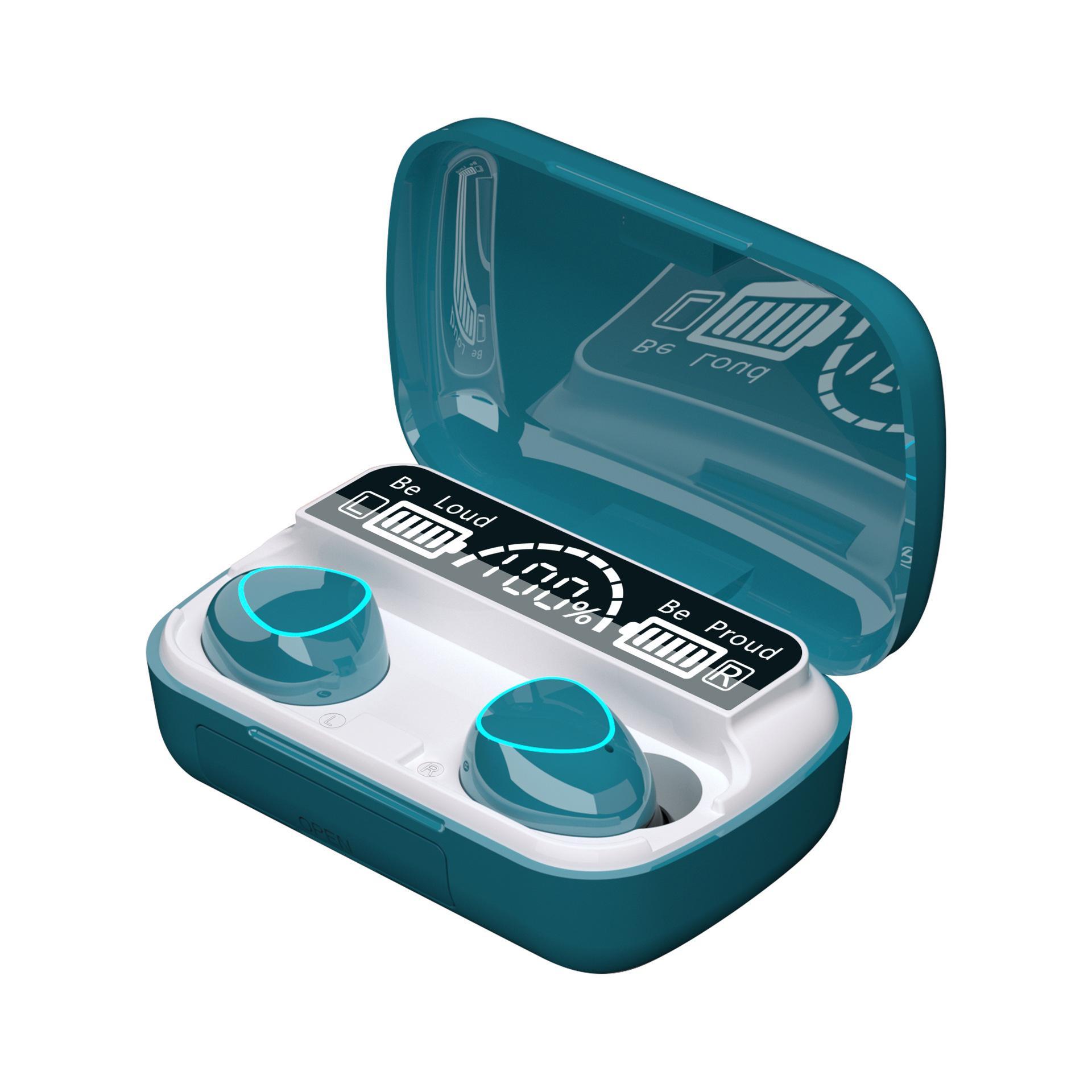 Mini Dokunmatik Su Geçirmez Kablosuz Kulaklık TWS Ile LED Güç Ekran Bluetooth 5.1 Spor Kulaklık Gaming Kulaklık Smartphone için