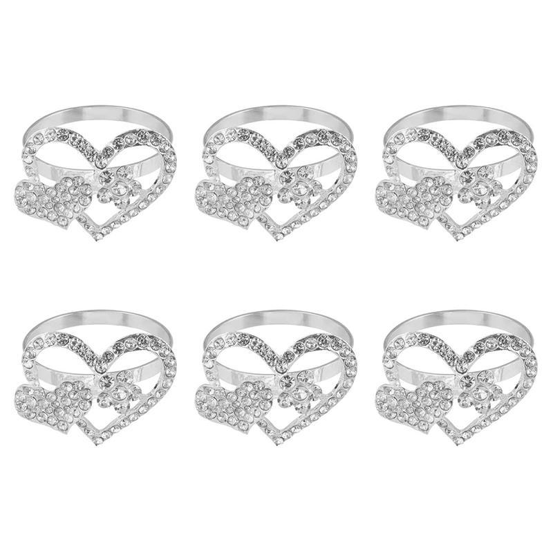 12 Pcs Napkin Ring Love Napkin Ring Set Suitable for Valentine's Day Holiday Parties Dinner Parties Wedding Receptions