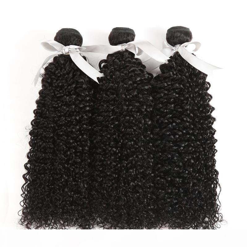 Кудрявые бразильские волосы девственницы натуральный цвет Индийские малазийские наращивания волос человека Remy Wefts 10-28 дюймов