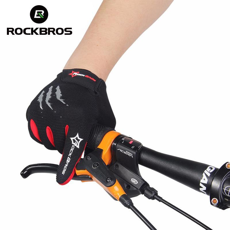 Rockbros touchscreen fahrrad fahrradhandschuhe volle finger taktische radfahren mtb handschuhe gel gepolsterte atmungsaktive stoßfest für männer frauen