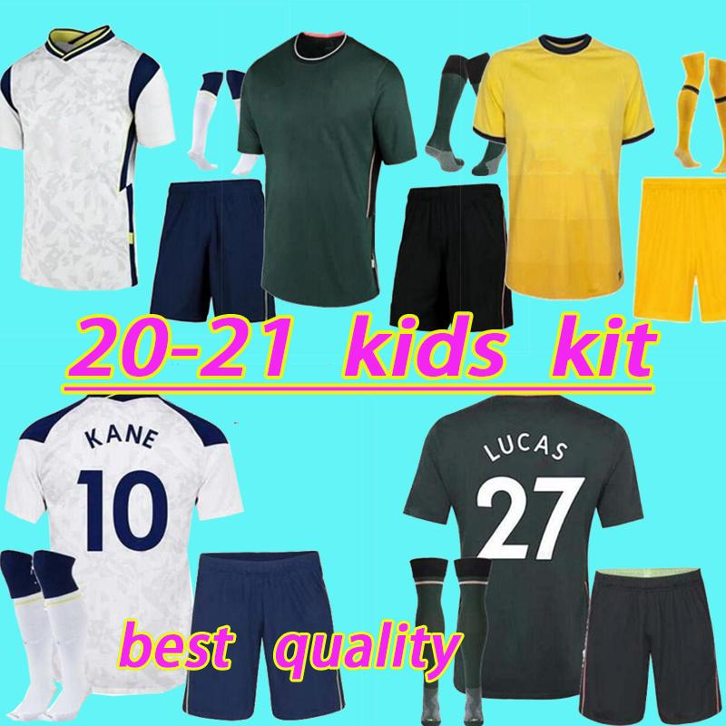20 21 Spurs Kids Home Home Soccer Jersey Kits 2020 2021 Kane Son alderweireld Eriksen Dele Home Out Детская футболка