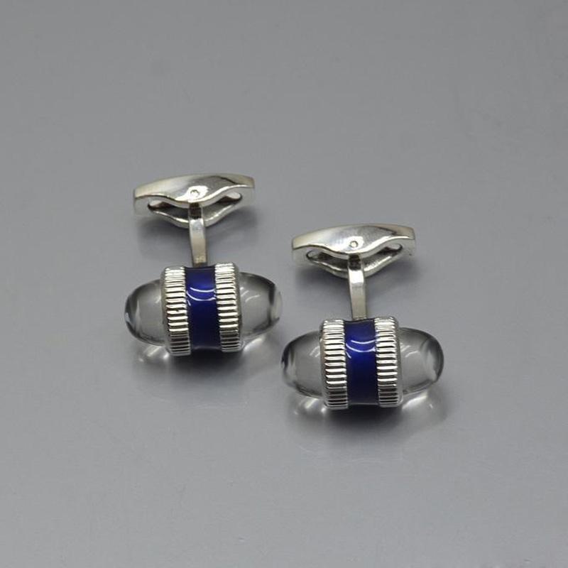 Luxury Jewelry Men Cufflinks Hexagon White Flower French Cuff Llinks Shirt Accessories