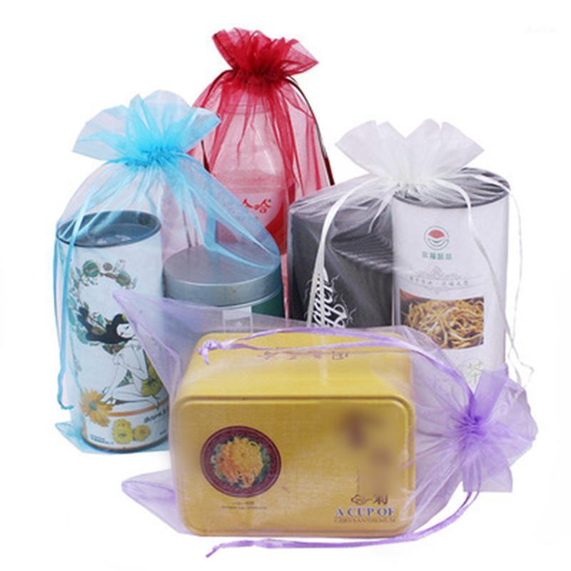 Grand sac à cadeau de bijoux en organza 20x30cm Sacs de faveur de tissu Sheer pour les faveurs de mariage Bijoux de cordon de bijoux 100pcs wholesale1