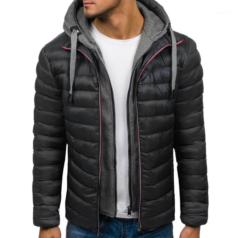 Zogaa Invierno Moda Hombre Hoodie Parkas Casual Capucha Capucha Capa de algodón Chaqueta de invierno para hombres Ropa de Hombre 20181