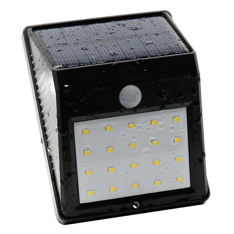 50x 20 LED Solar Solar Light, Lampada del sensore di movimento Squirt Squirt ACQUA Polvere, wireless, Auto on / off per vialetto, patio, ponte, cortile