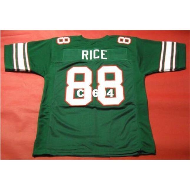 2604 Mississippi Valley State Delta Devils # 88 Jerry Rice College College Jersey Größe S-4XL oder benutzerdefinierte Name oder Nummer Jersey