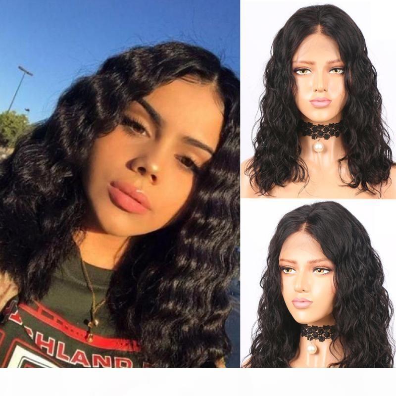 Fureya Capelli 360 merletto dei capelli umani parrucca corta dell'onda profonda Per Black Women 150% Densità brasiliano Remy Pre Pizzico candeggiati Nodi