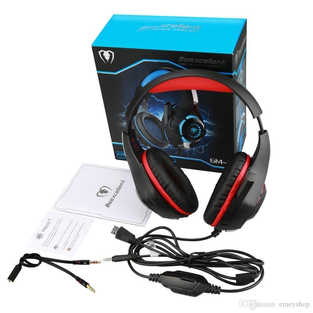 Cool cada fone de ouvido Gaming Gamer Casque 3.5mm fones de ouvido estéreo com microfone para laptop ps4 gamepad novo xbox um gm-1