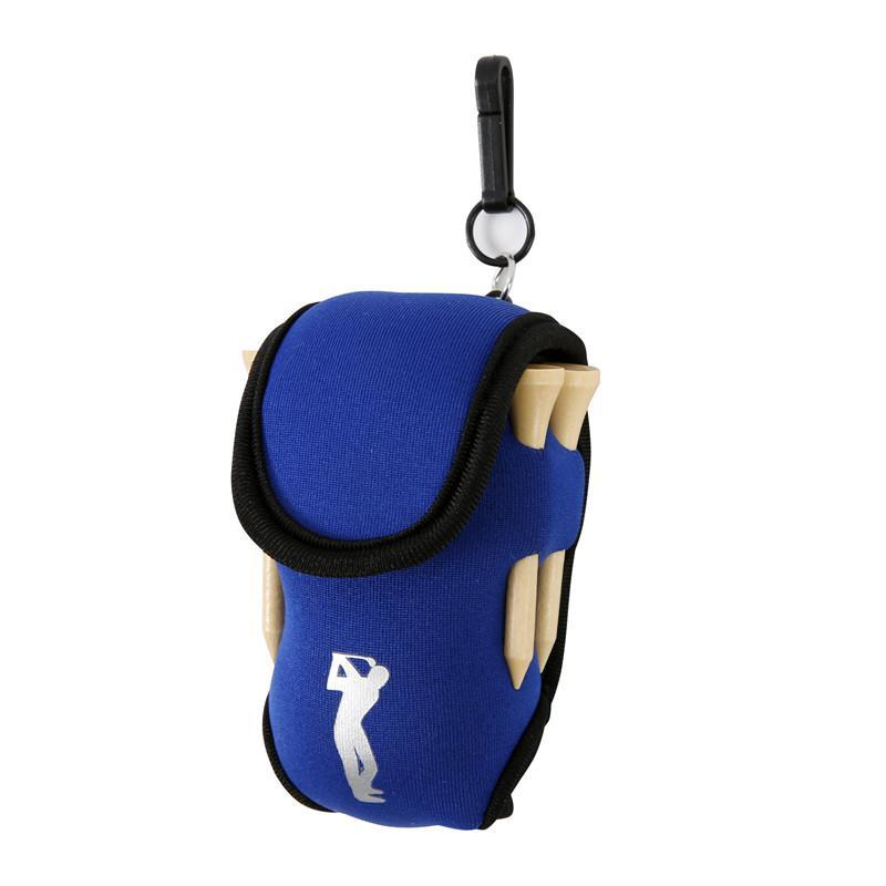 Kleiner Golfball Bag Mini Hüfttasche Bag 2 Ball + 4 T Neopren-Halter Sporttasche auf für Outdoor-Golf Training Bälle Tees Pouch