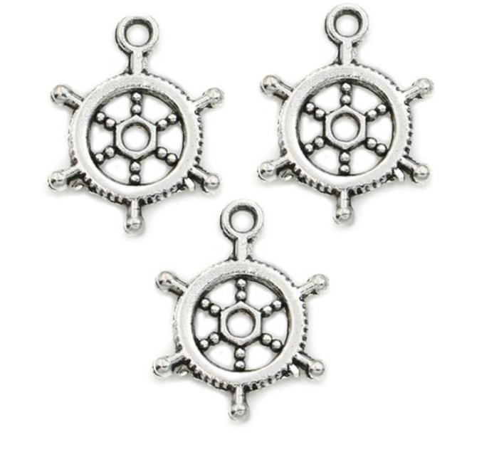 freies Schiff 200pcs / lot antikes Silber überzogenen Ruder Anker-Charme-Anhänger für Schmucksachen, die Armband-Zusätze DIY 20x15mm