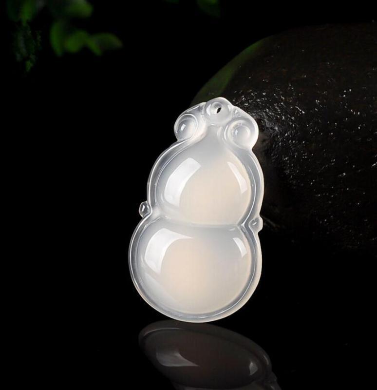 Tipo de envío libre de jade natural de Ruyi ósea calabaza colgante de Ruyi de hombres y mujeres de calabaza collar de la venta directa de fábrica