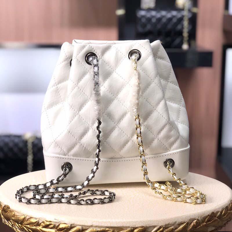 Echter Leder-Rucksack-Beutel für Frauen Mode-Design Luxus-Schulter-Beutel-Geldbeutels der Dame klassischen Knapsack / Rucksack
