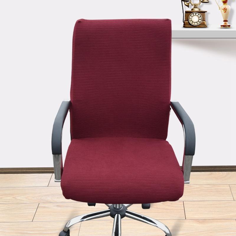 Estiramiento extraíble cubierta de la silla de la computadora Spandex Silla de oficina cubiertas de asiento elástico universal Sillón de asiento para la decoración del hogar