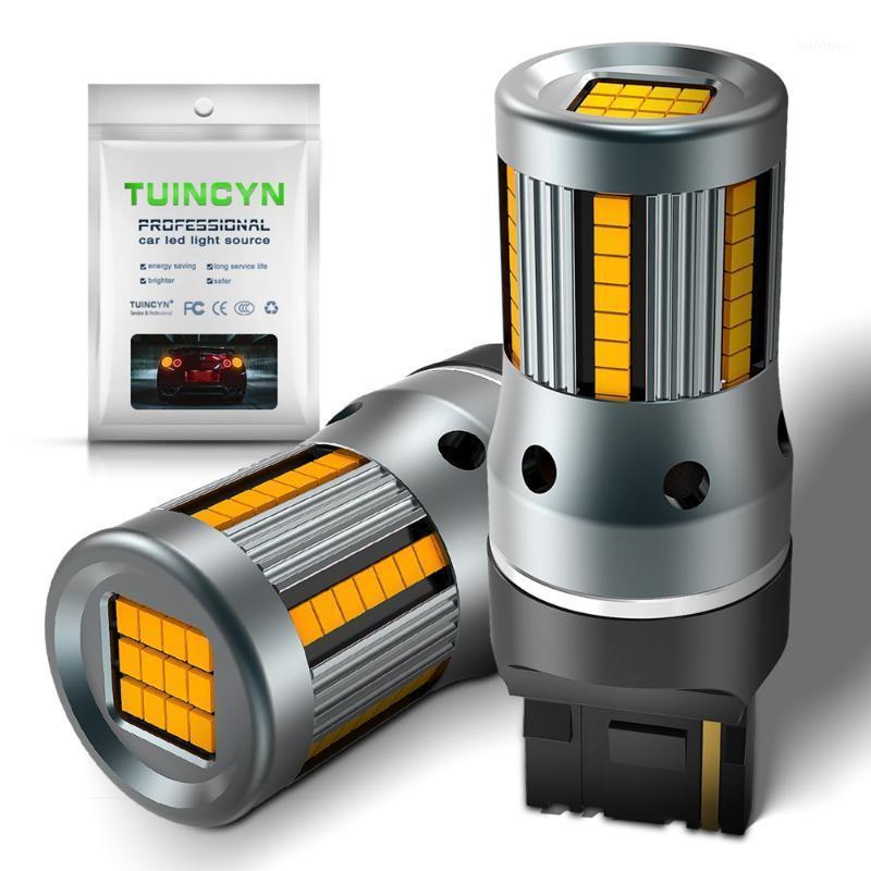 Amber 7440 W21W T20 светодиодные лампы CANBUS Бесплатные повороты сигналы светло-высокой скорости декодирования нагрузочный резистор анти-гипер вспышка Код ошибки Blinker1