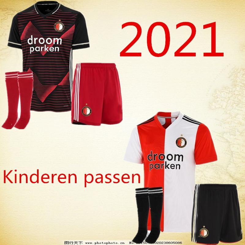 kids kit 20 21 maillots de football Feyenoord maison loin 2020 2021 BERGHUIS TOORNSTRA KOKCU Maillot de foot JORGENSEN de Camiseta futbo