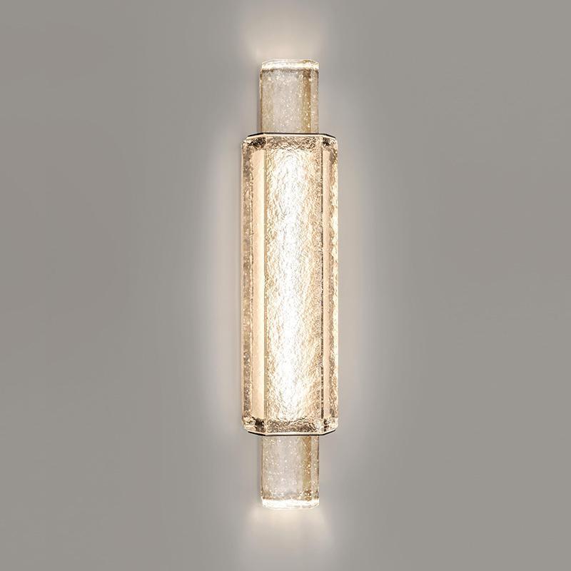 Post-Modern Light Luxury Crystal Living Room Light Light Designer Exhibition Hall Hotel Lámpara de pared