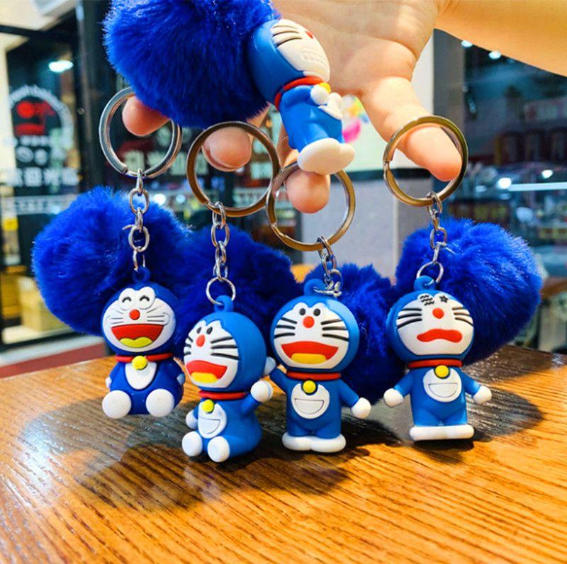 Máquina creativa Cat Ball Cadena Llavero Doraemon Kitten Llavero Llavero Fabricante Venta directa Llaveros
