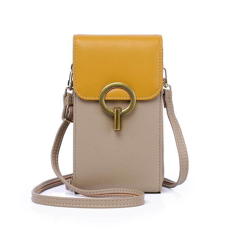Sacs à bandoulière Luxe Mini Messenger Sac Femme Brand Téléphone Cellule Pocket Dames Coin Pourse Handbody Fashion Cuir Sac à main Femelle