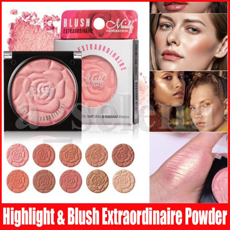 Menow Flower Eye Makeup Flawless Natural Radiant Finish Pressed Powder Pigment Blusher Bronzers & Highlighters Blush Extraordinaire Powder