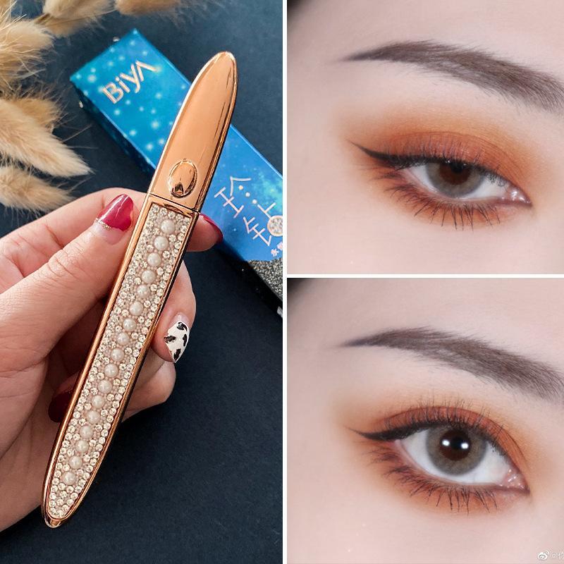 Diamante Magia Eyelash auto adesivo lápis lápis rápido-secagem preta delineador caneta sem cola À prova d 'água olhos makeup delineador