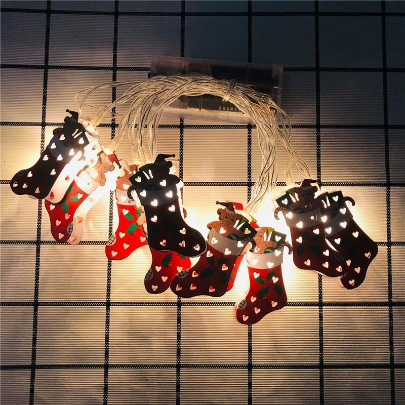 1.65m 10 LED/3m 20 LED Light String Cartoon Xmas Motif Christmas Outdoor Decoration for 2020