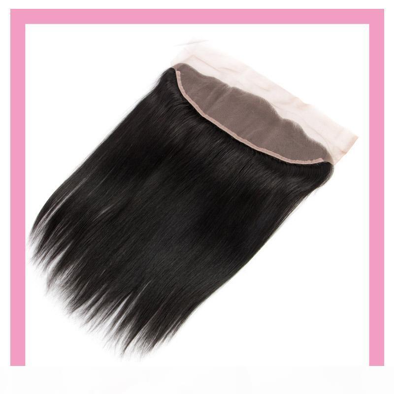 Peruanian 100% menschliche Haare Produkte 13x4 Spitze Frontal Gerade natürliche Farbe 13 * 4 Frontal seidig gerade 8-22 Zoll