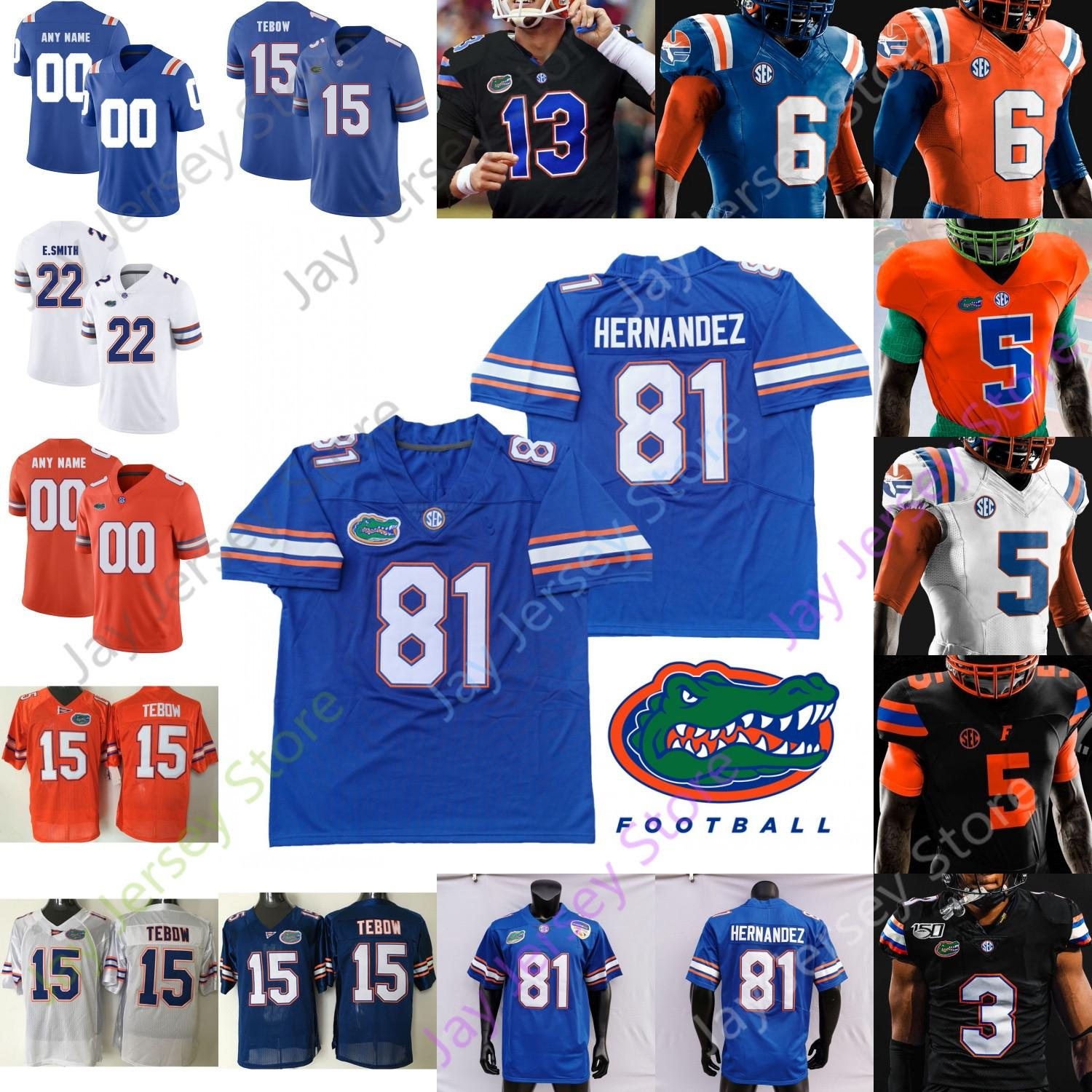 Florida Gators Football Jersey NCAA College Aaron Hernandez Tim Tebow Emmitt Smith Kyle Trask Feleipe Franchi Perine Pierce Jefferson Pitts