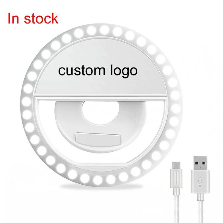 Amazon Горячий продавать 36 LED Ring Light перезаряжаемые батареи и светодиодные селфи Flash Light селфи Ring Light для смартфонов