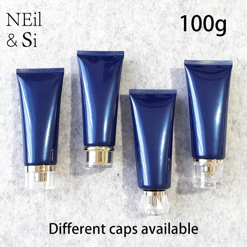 100 ml vide bleu Lotion pour le visage de plastique récipient cosmétique squeeze Tube crème pour les mains Correcteur Bouteille Voyage Livraison gratuite