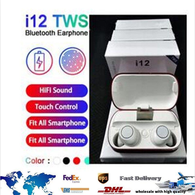 New I12 TWS Bluetooth 5.0 Гарнитура TWS беспроводных наушников TWS беспроводных наушников TWs Hearbuds стерео наушники Портативные наушники PK для I10 I20 TWS I30 I60 I14