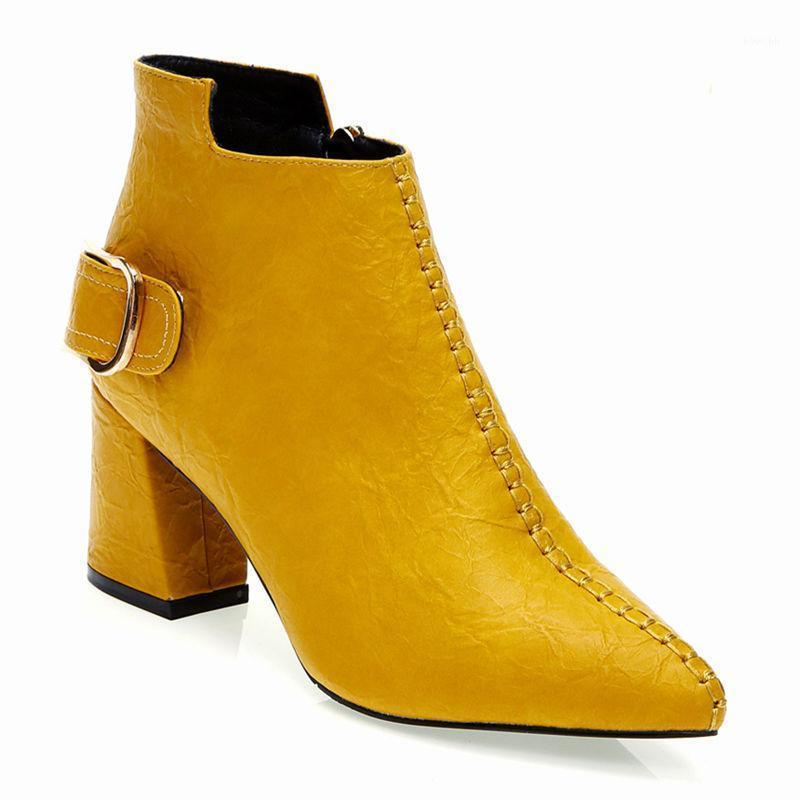 PU-Lederstiefel High Heel Schuhe Frauen1