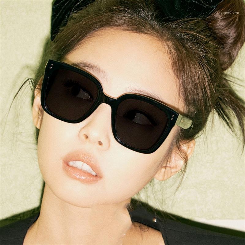 Occhiali da sole Polarizzati Black Square 2021 Sfumati di stilista per le donne Occhiali da guida estivi coreani UV400 Protezione1