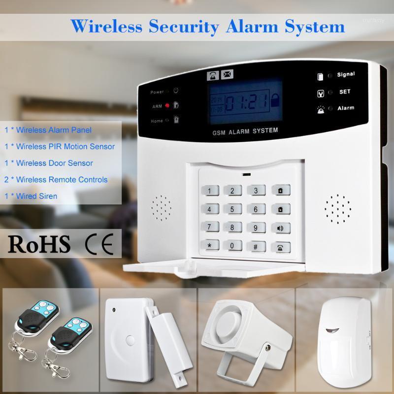 Sistemi di allarme SMS wireless GSM SMS Home BURGLAR Sistema di sicurezza Sistema di sicurezza Rilevatore Sensore Kit Telecomando Telecomando Telecomando 433MHZ 15271