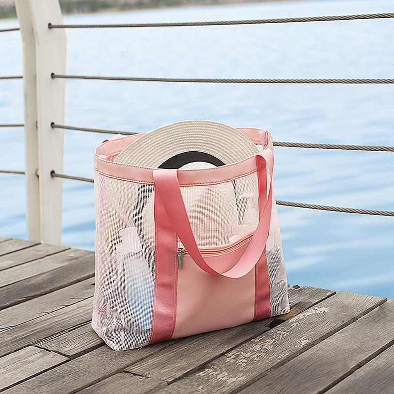 Plaj Baskı Çantası Yüzme Seyahat Han Çanta Taşınabilir Çanta Toptan Açık Açık Gargle Yıkama Cebi Örgü Bved