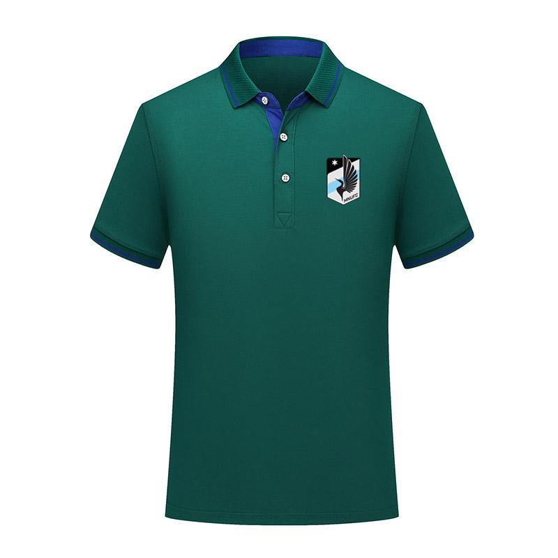 Minnesota Birleşik yaz moda pamuk futbol polo gömlek erkekler kısa kollu yaka polo futbol erkekler polo gömlek eğitim forması