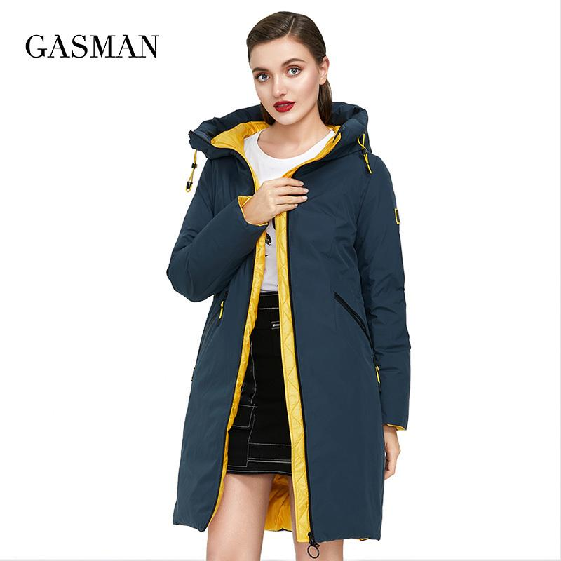 GASMAN High quality brand hooded down parka Women's winter jacket women's coat Female warm outwear thcik jacket hot new 210 210203