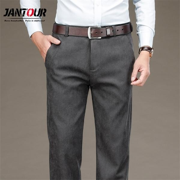 Brand Easy Care Workwear Black Business For Men Slim Fit Formal Trousers Mens Suit Wedding Party Pants 29-40 0930