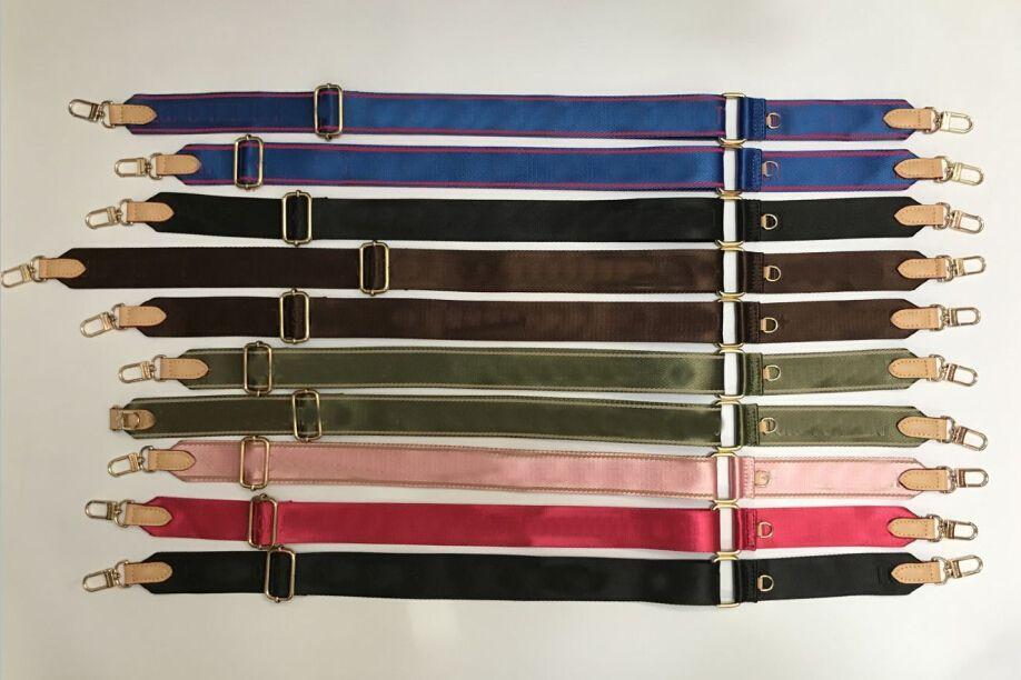 Venda 6 cores alças de ombro para 3 peças set sacos mulheres saco crossbody bolsa de lona peças cinta rosa blak verde azul