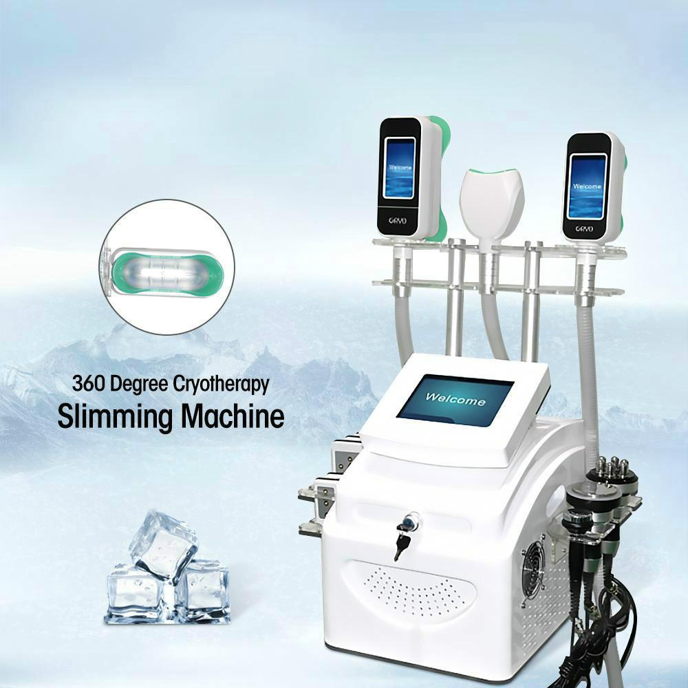 Новое поступление !!! 360 ° Cryo жира Замораживание машина Вакуумная Criolipolisis Потеря веса Криотерапия жира Замораживание похудения машина двойного подбородка Удаление