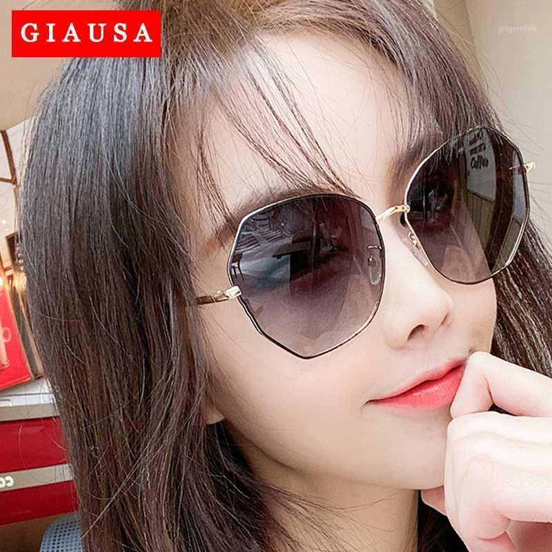 Occhiali da sole 2021 Zonnebril Dames Est Cool Polygon a forma di esagono a forma di moda donna Ocean Sheet Protezione UV occhiali Occhiali da sole UV4001