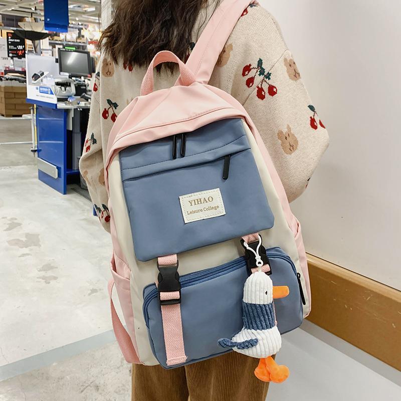 2020 новый рюкзак карманный нейлон путешествие плечо женщина много для рюкзаков женщин подростковая школьная сумка jxfst
