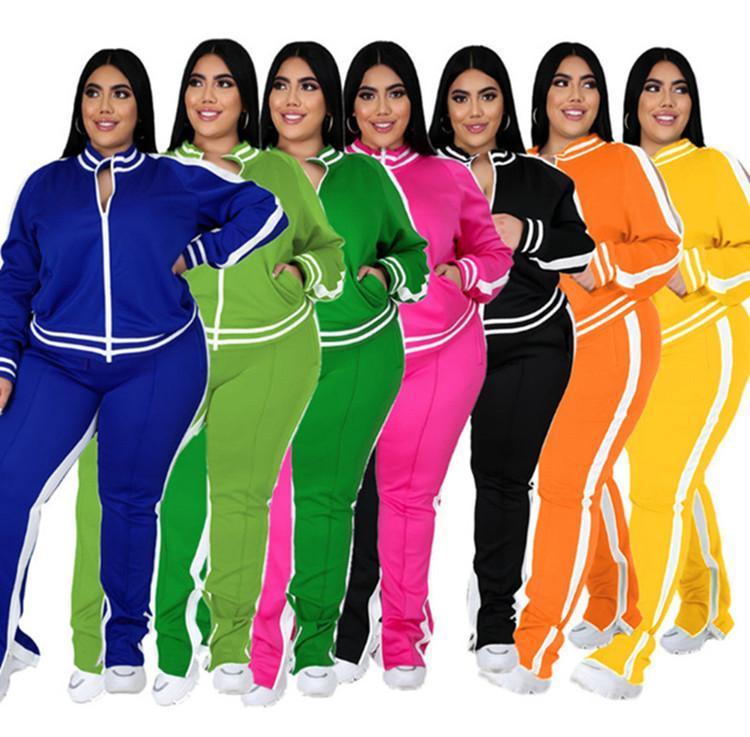 femmes sweat à capuche Legging deux pantalons veste de survêtement à manches longues ensemble de pièce de sport lambrissés vêtements sport collants mis H1359 chaud