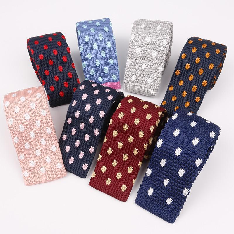 Haut de gamme pour hommes Vêtements tricotés Cravate avec Flat Top 6cm Cravate Holiday Festival Cadeaux de mariage cadeau de port quotidien Banquet papa