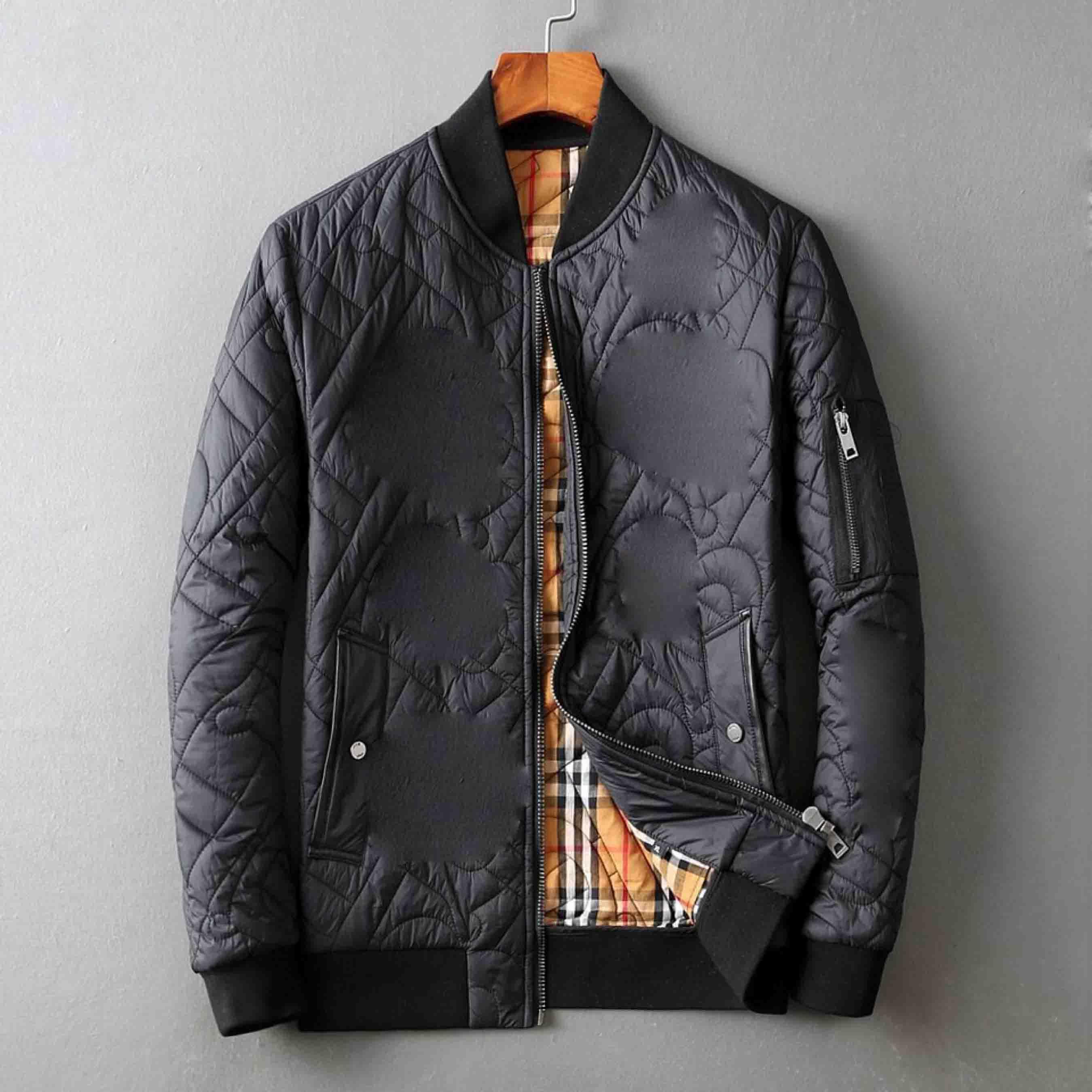 2020 nouvelle veste pour hommes coupe-vent chaud lettre à capuchon épais impression hiver mode casual duvet noir veste