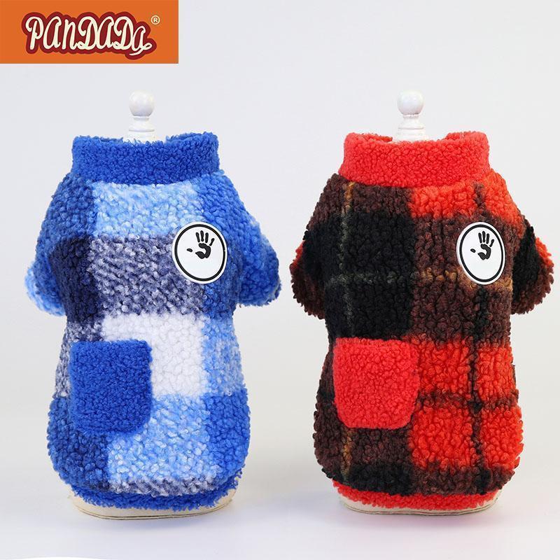 PET хлопковая мягкая куртка зима теплая модная кашемировая одежда для маленьких средних собак S-XXL1