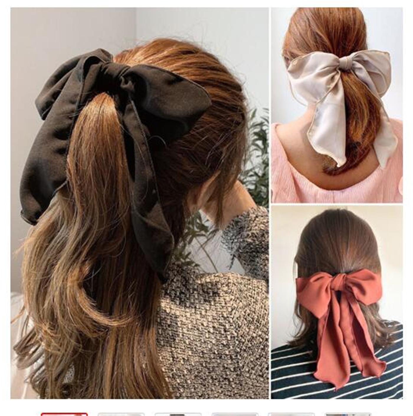 2021 Bowknot Bowknot Cuerda de la cuerda Caucho para las mujeres Chicas Dulce Elástica Hairbands Elegante Banda Accesorios para el cabello