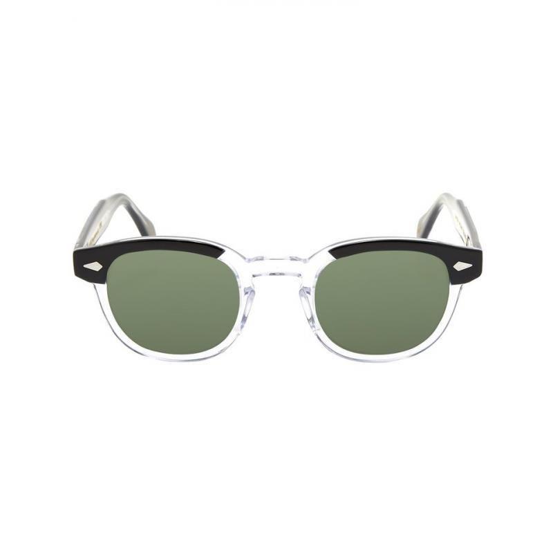 Mulheres Johnny Depp óculos de lente Homens Lemtosh polarizada óculos de sol Verde Acetato Óculos quadro Top Quality 02-2