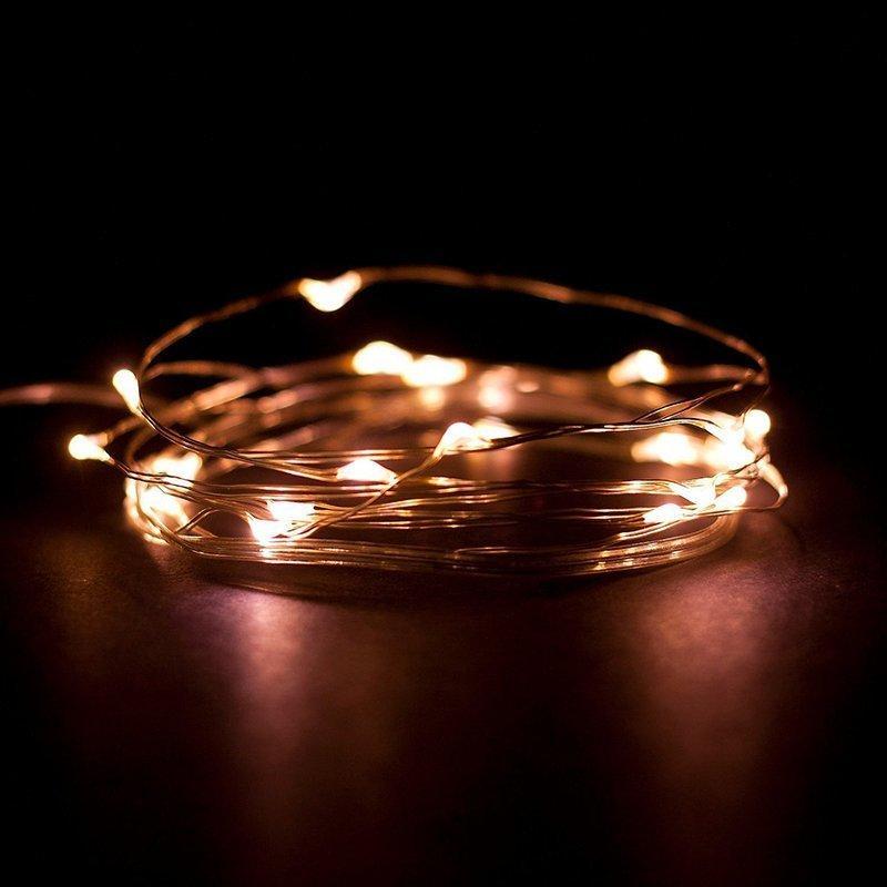 3aa Işıklar 20/40 Peri Starry Pilli 2m 4m Bakır Tel Led Lamba Partisi Noel Düğün Dekorasyon Dgt4 #