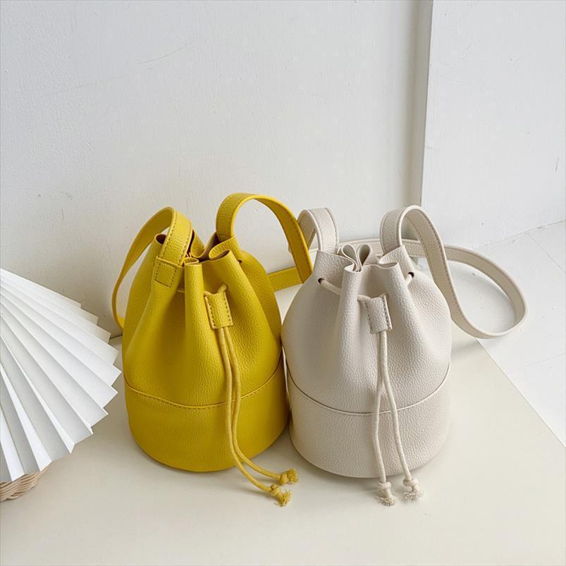 2020 sacos novos mulheres pequeno Marca Rodada Bucket Bag Feminino Bolsas Ladies Bandoleira Shoulder Bag Japão Drawstring Bag Whole Sale